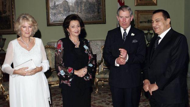 مبارك وسوزان وتشارلز وكاميلا