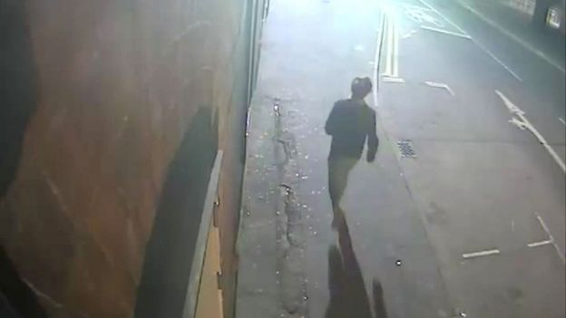 CCTV footage from outside the Princess Street flat