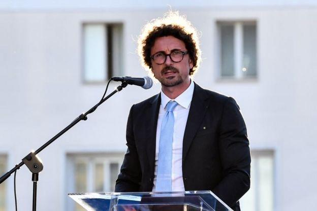 İtalya Ulaştırma Bakanı Danilo Toninelli