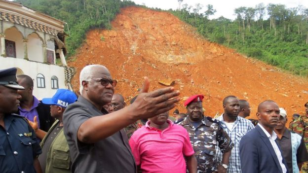 President Koroma visits Regent - one of the worst-affected areas 15/08/2017