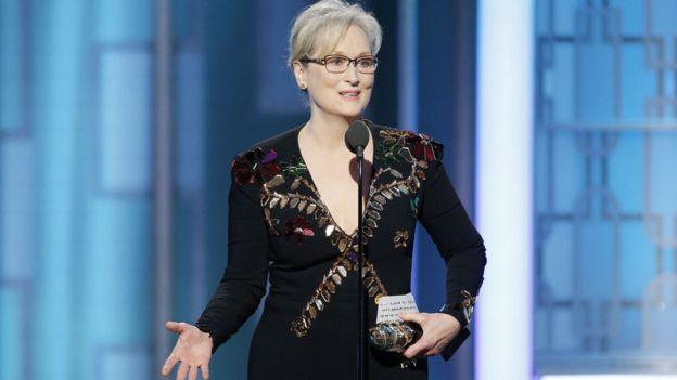 Meryl Streep at the 2017 Golden Globes