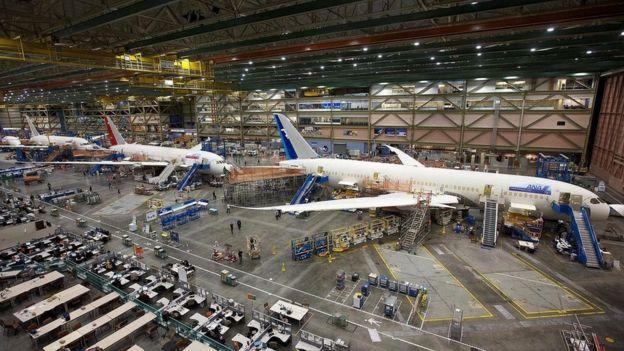 ينتج المصنع حاليا الجيل الأحدث من طائرات بوينغ