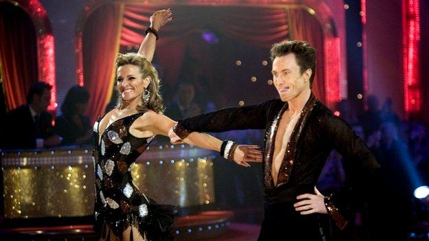 Gabby Logan and James Jordan on Strictly Come Dancing