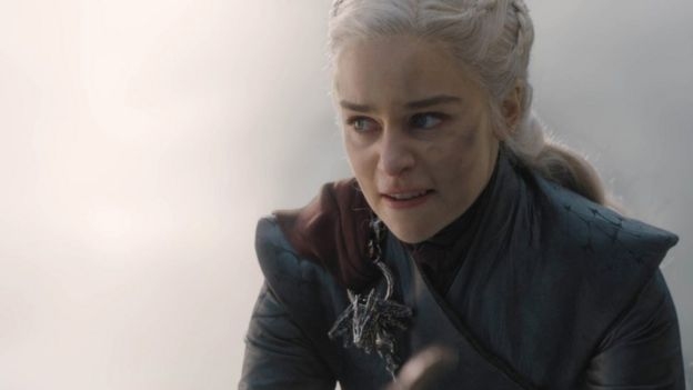 Daenerys Targaryen en el capítulo 5 de la temporada 8 de Game of Thrones.
