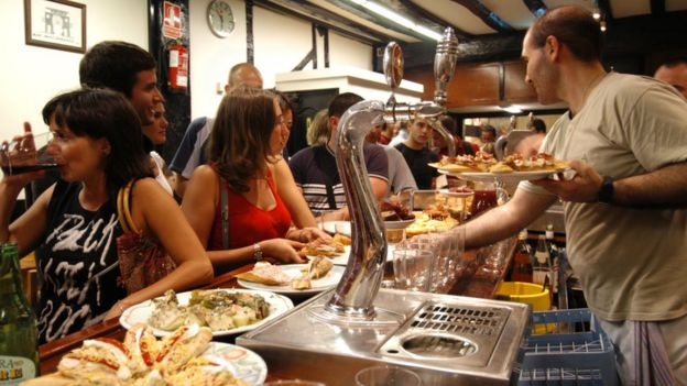 A San Sebastian tapas bar