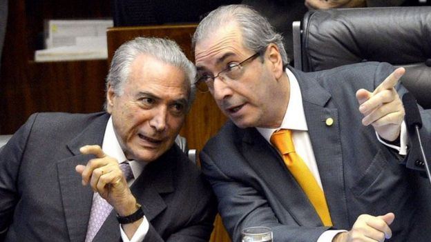 Michel Temer (left) and Eduardo Cunha. Photo: November 2015