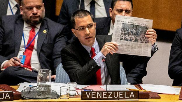 El ministro de Relaciones Exteriores de Venezuela, Jorge Alberto Arreaza