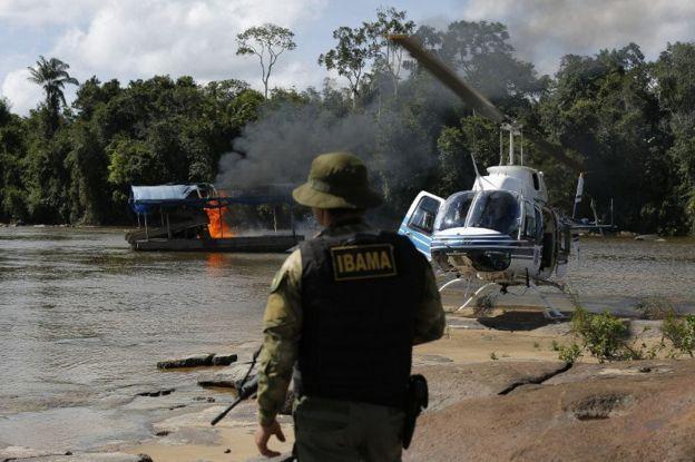 Operação contra o garimpo em Roraima