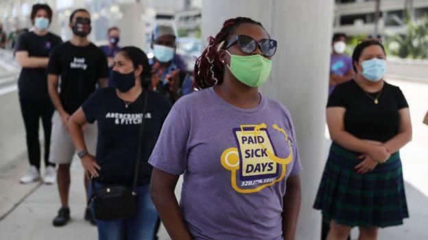 Protesta de desempleados en Florida