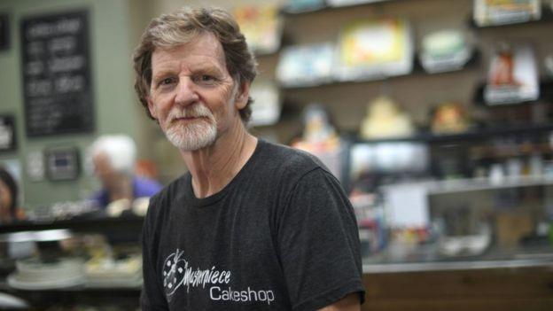 Jack Phillips, dueño de la pastelería Masterpiece Cakeshop en Lakewood, Colorado, Estados Unidos