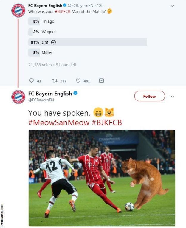 Bayern Twitter poll
