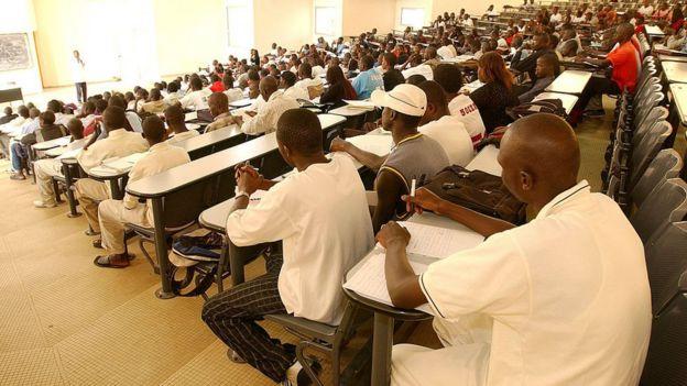 Amphithéâtre de l'Ecole Normale Supérieure à l'Université de Dakar-Bourguiba. (Image d'archives)