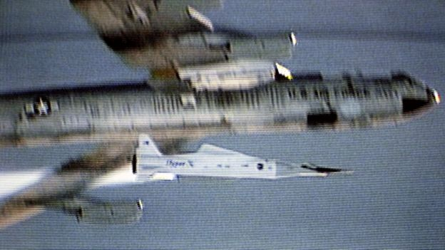 The X-43A reached speeds of Mach 9.6, this is 1,850 kilometers per hour, in test flights in 2004. (Photo: NASA)