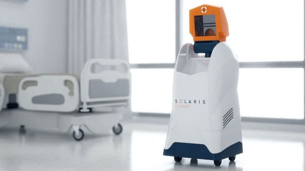 Solaris Lytbot uses far-UVC - an even shorter wavelength that is less harmful to humans and combines that with UVB and UVA rays that heat and cool and confuse pathogens.