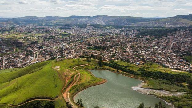 Imagem aérea de Itabira