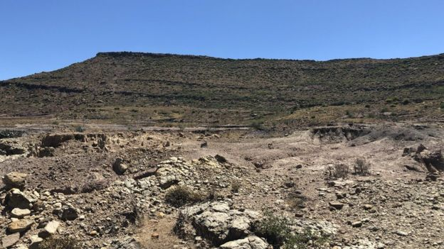 The fossils were found in the barren landscape of this part of Eastern Cape Province