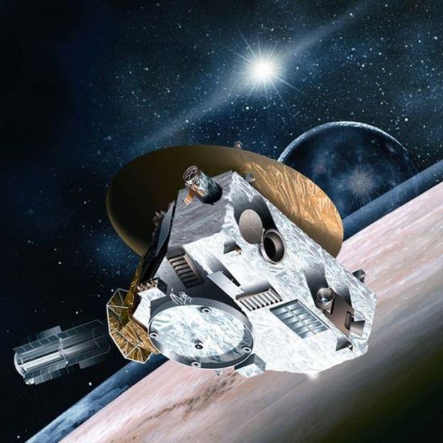 Misión New Horizons que exploró Plutón.