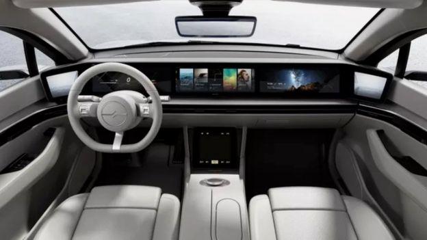 Панорамна панель всередині концептуального автомобіля