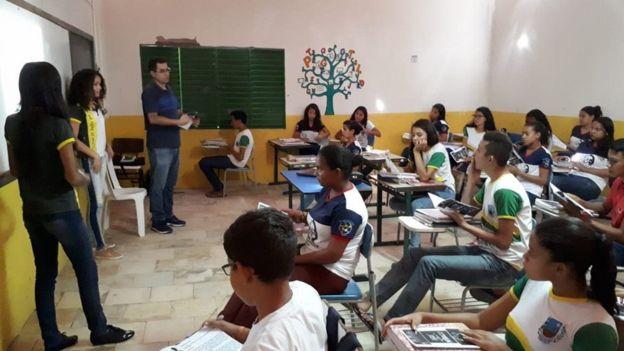 Palestra em escola do Ceará