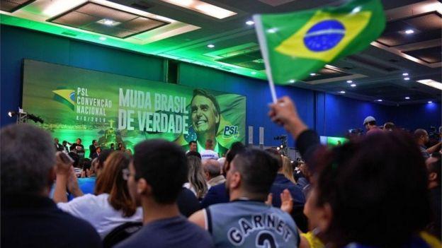 Convenção partidária do PSL no Rio de Janeiro