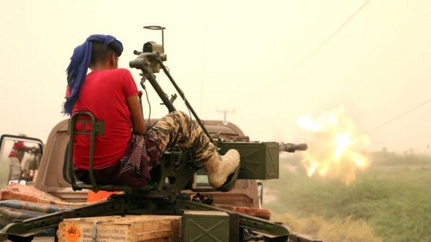 Ofensiva en las afueras de Hudyada