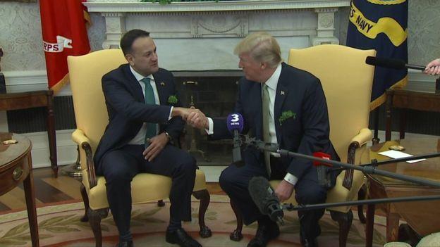 Donald Trump and Leo Varadkar
