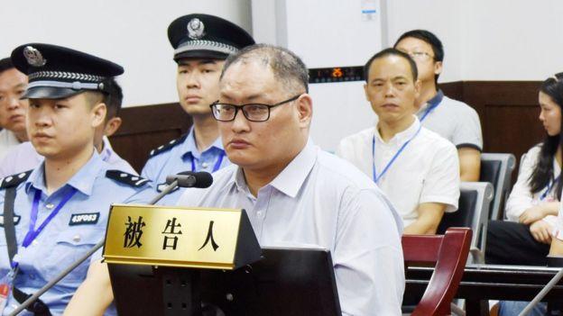 9月11日上午,被告人李明哲颠覆国家政权一案在湖南省岳阳市中级人民法院一审公开开庭审理。图为庭审现场。