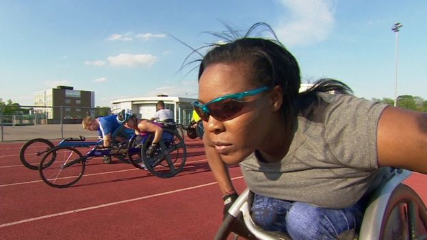 La atleta paralímpica británica Anne Wafula-Strike