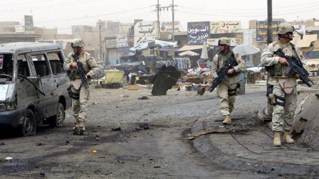 Tropas americanas em Bagdá em 2005