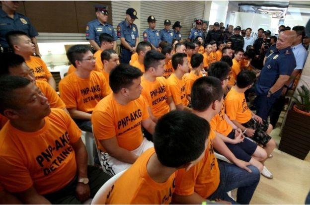 中國籍公民涉嫌與賭場有關綁架案,在菲律賓遭逮捕(資料照片)