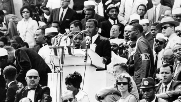 John Lewis speaking at the March on Washington