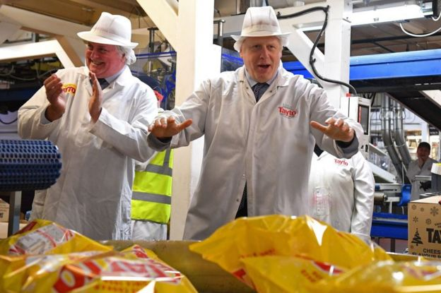 The prime minister at a food factory