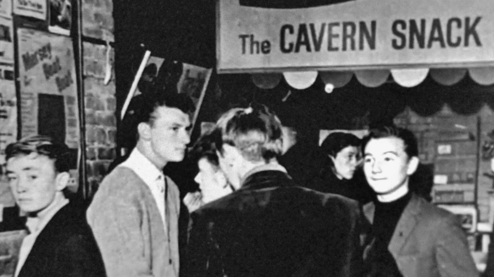 People at Cavern Club in the 1960s