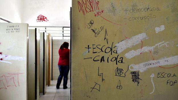Banheiro de escola em São Paulo