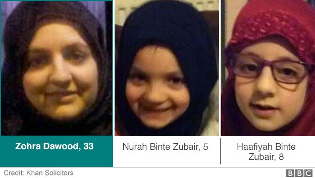 Zohra Dawood, 33, with her two children