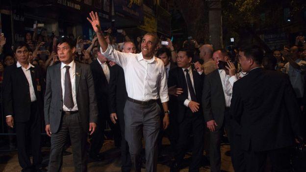 美国前任总统奥巴马去年访问越南