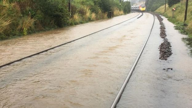 Flooding closes West Coast mainline between England and