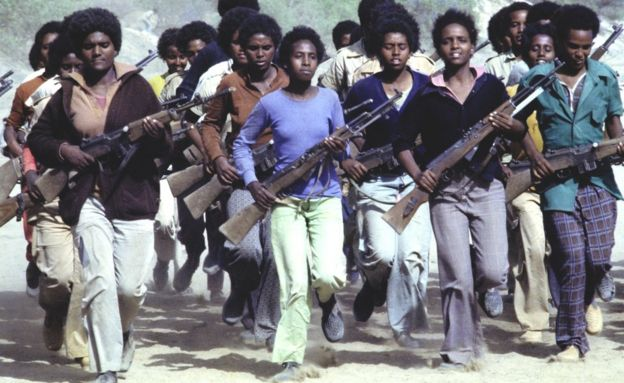 EPLF fighters training in 1978 in the mountains of northern Eritrea