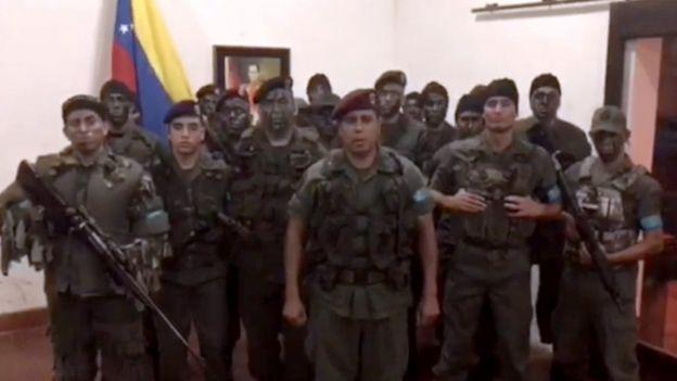 Caguaripano apareció en un video el domingo anunciando una