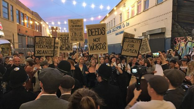 Suffragettes' march at Peaky Blinders Festival