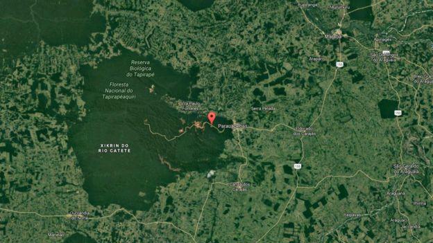 Imagens de satélite do Google de área protegida da Vale