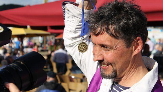 Wyn Mason, enillydd y Fedal Ddrama // Wyn Mason, winner of the Drama Medal
