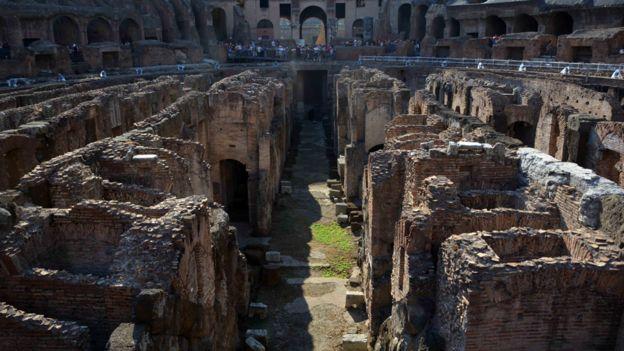 Los túneles subterráneos del Coliseo