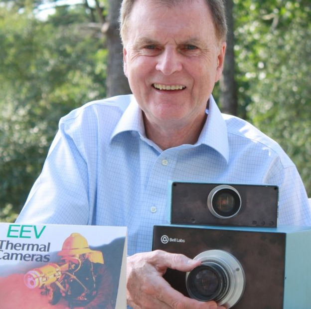 Dr Mike Tompsett wit the world's first digital colour camera
