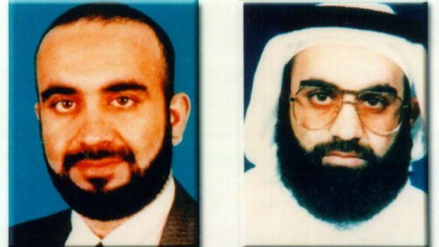 Dos fotos de archivo de Khalid Sheikh Mohammad