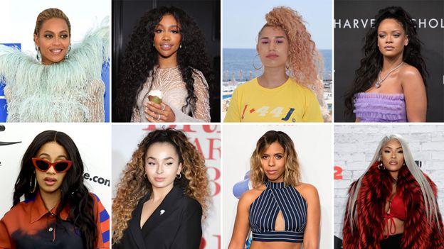 Beyonce, Sza, Raye, Rihanna, Cardi B, Ella Eyre, Kelli-Leigh, Stefflon Don