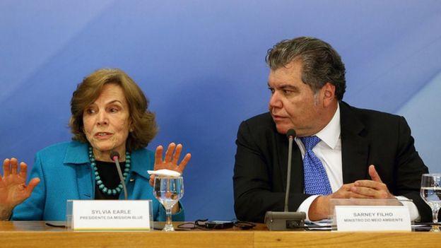 Sylvia Earle e Sarney Filho