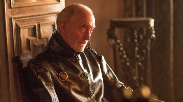 Charles Dance dressed as Tywin Lannister in Game of Thrones