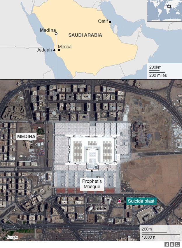Medina bombing: Saudi king pledges 'iron hand' for attackers