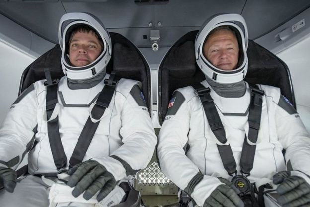 Bob Behnken y Doug Hurley.